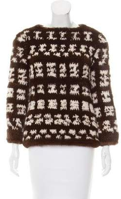 J. Mendel Knitted Mink Sweater