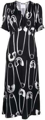 Moschino safety pin print dress
