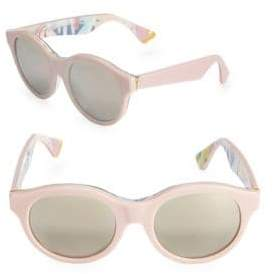 Mona Ferragosto 54MM Round Sunglasses