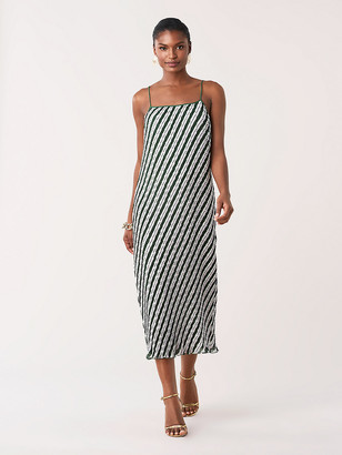 Diane von Furstenberg Novalee Pleated Midi Dress