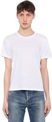 Saint Laurent Logo Patch Detail Cotton Jersey T-Shirt