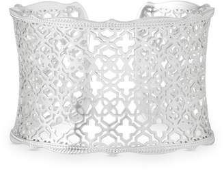 Kendra Scott Candice Silver Cuff Bracelet in Silver Filigree Mix