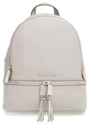 MICHAEL Michael Kors 'Small Rhea Zip' Leather Backpack