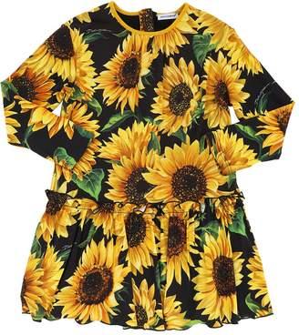 Dolce & Gabbana Sunflower Print Modal Blend Dress