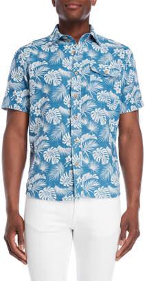 Tailor Vintage Blue Hawaiian Shirt