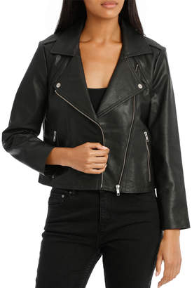 Jacket Leather With Zip Detail