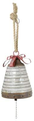 Gracie Oaks Hanging Galvanized Bell Shaped Ornament