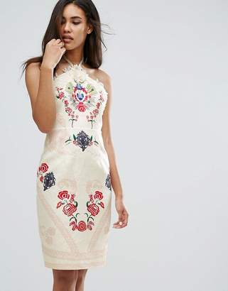 Couture Comino Halter Neck Printed Midi Dress