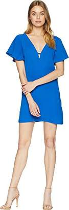 Jack by BB Dakota Junior's 0 to 100 Rayon Crepe Deep V Dress