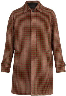 Prada Checked virgin-wool coat