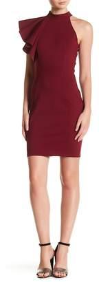 Love...Ady Mock Neck Ruffle Bodycon Dress