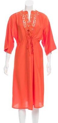 La Perla Crochet-Accented Midi Dress w/ Tags $125 thestylecure.com