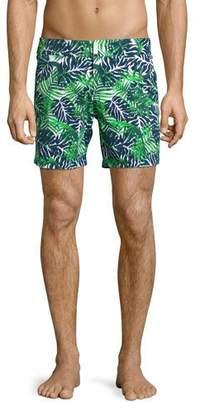 Vilebrequin Madrague Palm Leaves Swim Trunks, White $280 thestylecure.com