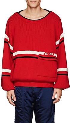 Cmmn Swdn Men's Striped Merino Wool Oversized Sweater - Red