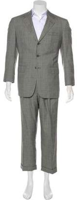 Ralph Lauren Purple Label Cropped Wool Suit