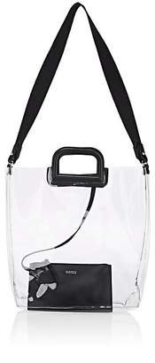 Barneys New York Women's Leather-Trimmed Transparent Tote Bag - Black