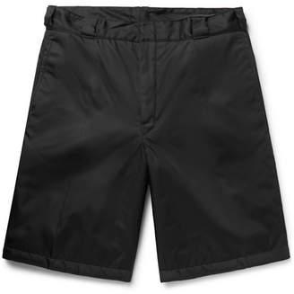 Prada Wide-Leg Nylon-Gabardine Shorts