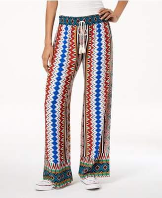Be Bop Juniors' Printed Wide-Leg Pants