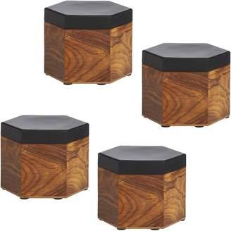 Amalfi by Rangoni Hexagon Box, Black (Set of 4)