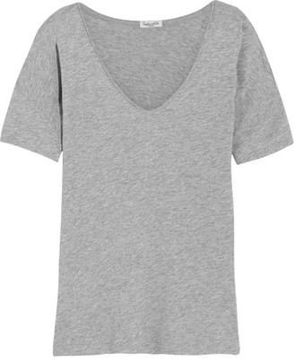 Splendid - Supima Cotton And Micro Modal-blend T-shirt - Gray $95 thestylecure.com