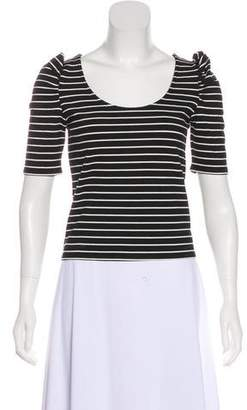 Torn By Ronny Kobo Striped Crop Top