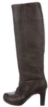 Devi Kroell Snakeskin Knee-High Boots