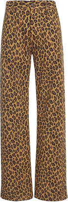 Marni Leopard Print Relaxed Pants