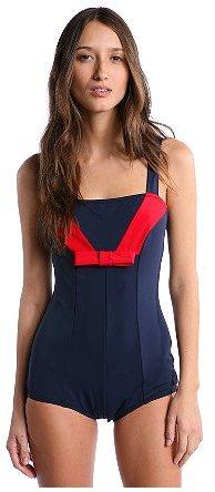 Lux Colorblocked Sailor Swimsuit