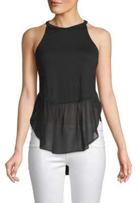 BCBGeneration Mixed-Media Sleeveless Top