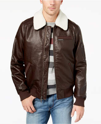 Members Only Member's Only Men's Fleece-Collar Bomber Jacket