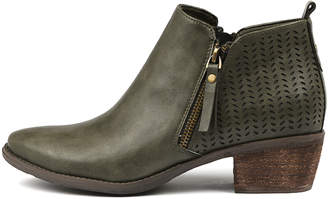 I Love Billy Scott Olive Boots Womens Shoes Casual Ankle Boots