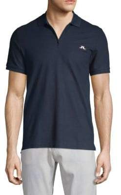 J. Lindeberg Logo Cotton Jersey Polo