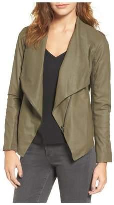 BB Dakota Leather Drape Jacket