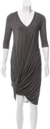 Helmut Lang Draped Jersey Dress