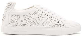 Sophia Webster Liara Butterfly Wing Leather Trainers - Womens - White