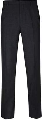 Burton Mens Big & Tall Charcoal Tailored Fit Mini Check Trousers
