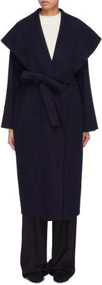 The Row 'Utan' belted cape collar melton wrap coat