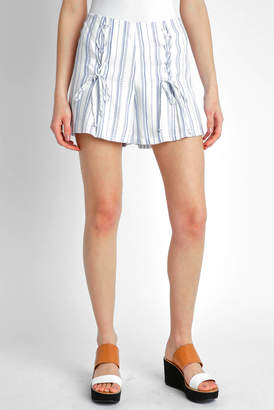 NSR Double Lace-Up Striped Shorts