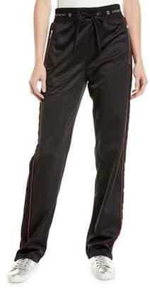 Givenchy Velvet Side-Stripe Drawstring Track Pants