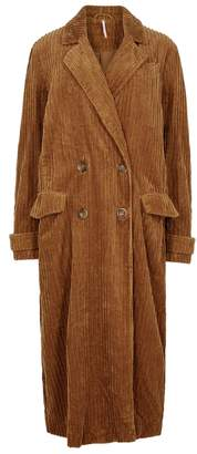 Free People Abbey Road Brown Corduroy Coat