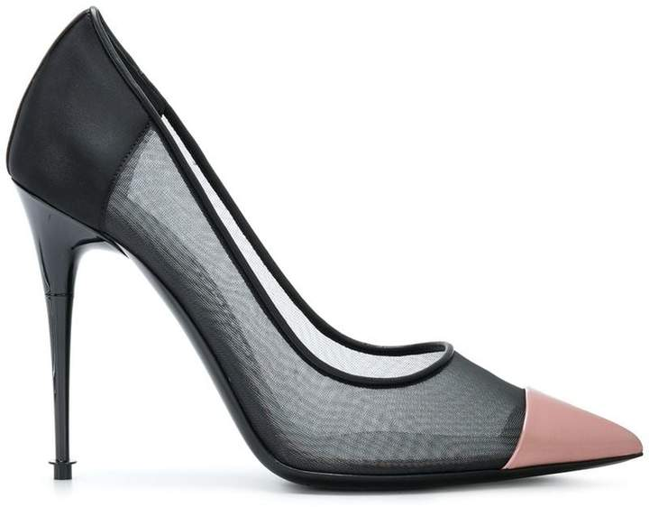 Tom Ford contrast pointed pumps