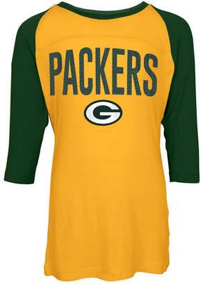 5th & Ocean Green Bay Packers Raglan T-Shirt, Girls (4-16)