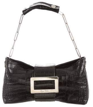 Roger Vivier Alligator Shoulder Bag