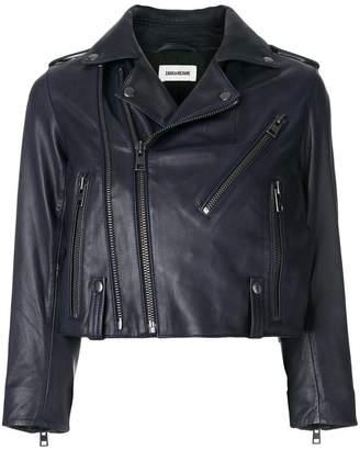 Zadig & Voltaire Liyo cropped biker jacket