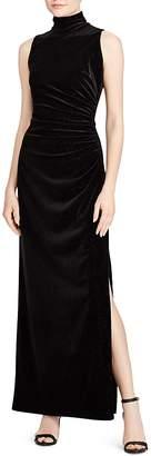 Lauren Ralph Lauren Sleeveless Metallic Velvet Gown