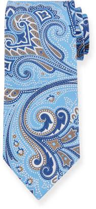 fb216e95a38ec Ermenegildo Zegna Paisley Silk Tie, Light Blue