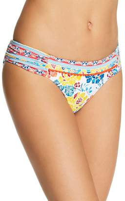 Lucky Brand Las Dalias Shirred Bikini Bottom