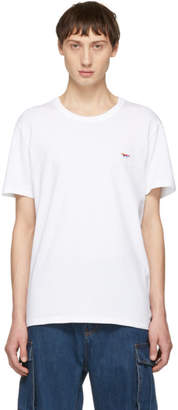 MAISON KITSUNÉ SSENSE Exclusive White Rainbow Fox Patch T-Shirt