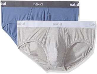 Naked Men's Stretch Cotton Briefs 2 Pack