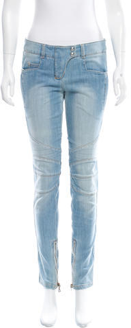 BalmainBalmain Quilted Moto Jeans